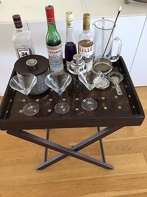 Wooden drinks tray With Stand