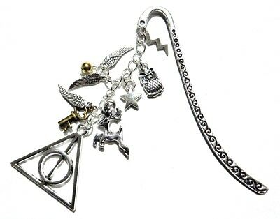 HARRY POTTER INSPIRED BOOKMARK metal charms owl horcrux patronus snitch gift A6