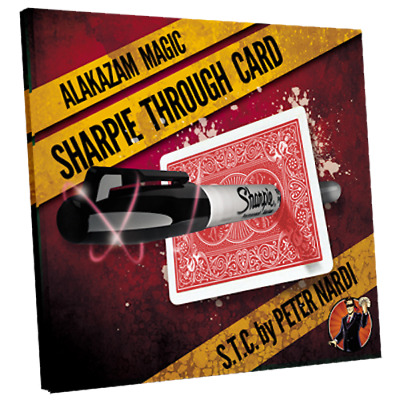 Sharpie Through Card (Gimmick and Online Instructions) Red by Alakazam Magic