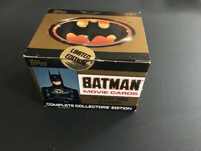TOPPS BATMAN Movie COLLECTOR EDITION Trading Cards Factory Sealed Set