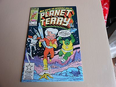 Planet Terry 1 Vf Marvel Star Comics 1985 Star Chase Game Variant