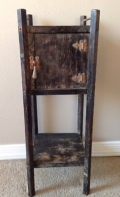Antique Vintage Primitive Cigar Humidor Smoking Stand Table Ca. 1930
