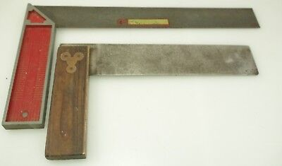 Vintage Angle Square Ruler Henry Disston Usa & Cusack & Moore, Melbourne