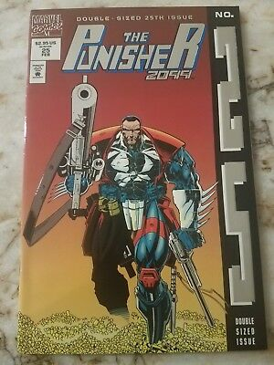 Punisher 2099 #25 Vf/nm Silver Foil Variant Dbl Size Issue 1995 Comic