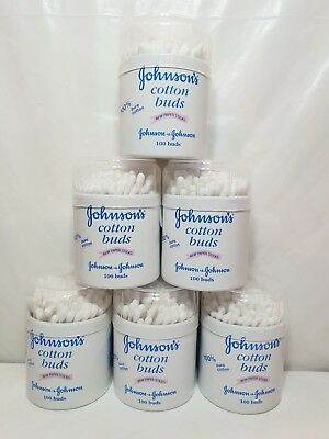 Johnsons Cotton Buds x 6 x 100 Stick J & J Johnson & Johnson Total 600