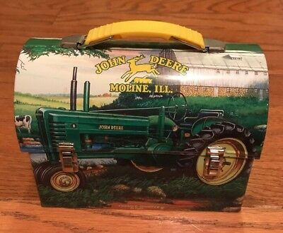 John Deere Tin Lunch Box With Yellow Handle 2001