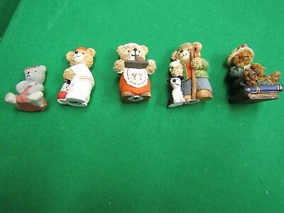 Teddy figurines - collectable - 5 in total