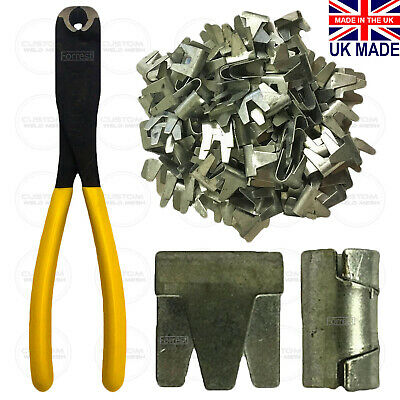 Wire mesh clips Large CT35 cage making clips Galvanised Gabions Wire mesh Fecing