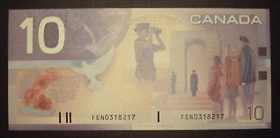 Canada 2002 BC-63b $10 Short Run Note FEN0318217 - GemUnc