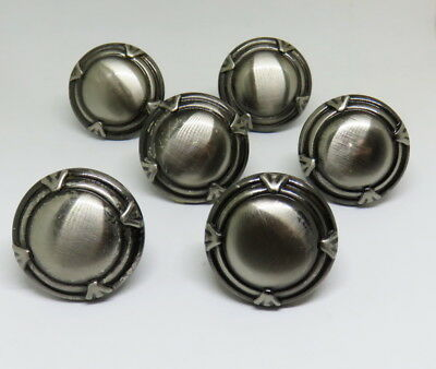Chrome Steel Art Deco Drawer Pulls Small Handles Style Vintage Lot Of 6