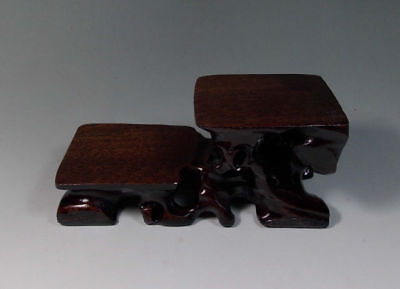 Chinese wood carved stand For Netsuke, snuff bottle small statue