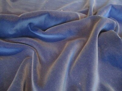 A Quality Royal Blue Velvet Upholstery Fabric 7 95 Picclick Uk