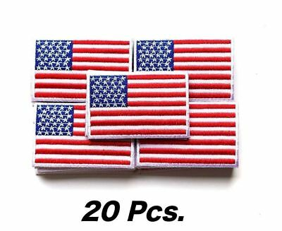 "USA US American Flag Logo Embroidered Patch Sew on Iron On Applique 3.4/"" x 2.1/"""