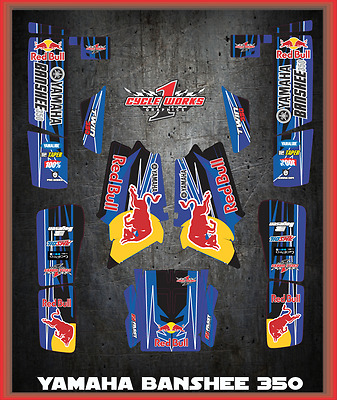 YAMAHA BANSHEE 350 YFM350 SEMI CUSTOM GRAPHICS KIT Race
