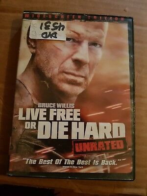 Die Hard 4: Live Free or Die Hard (DVD, 2007, Unrated Widescreen Single-Disc Ve…