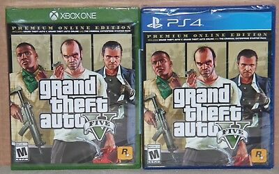 Grand Theft Auto V Premium Online Edition (Xbox One or PlayStation 4) Brand New