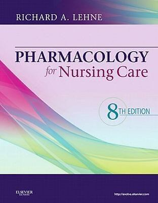 Pharmacology for Nursing Care by Lehne (2012, HB), study guide, test bank qs