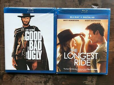 THE GOOD THE BAD AND THE UGLY Blu-ray New Free Ship Longest Ride