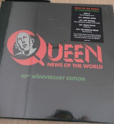 Queen - News of the World (BOX: Vinyl, CD, DVD) • NEW • 40th Anniversary Deluxe