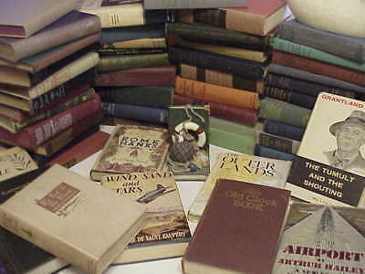 Lot Of 10 Vintage Old Books Mixed Lot Unsorted Decorative Books