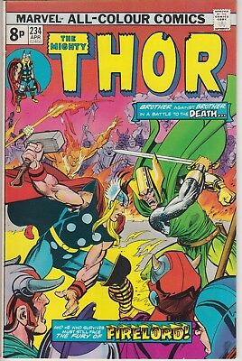 """Thor 234 """"Brother Against Brother in a Battle to the Death!"""" Bronze Age comic"""