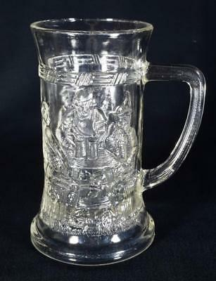 Vintage Art Deco German Glass Tankard c1920s