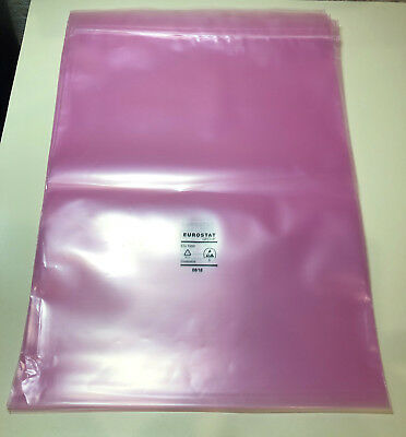 305mm x 406mm Pink Poly AntiStatic ESD Antistatic Shielding Bag For Motherboard