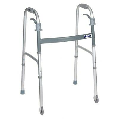 Drive Medical Height-Adjustable Walker / Folding / 2 Casters…50% off shipping