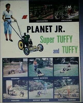 Planet Jr Tuffy Seeder Tiller Plow COLOR Sales Brochure Garden Tractor Manual BP