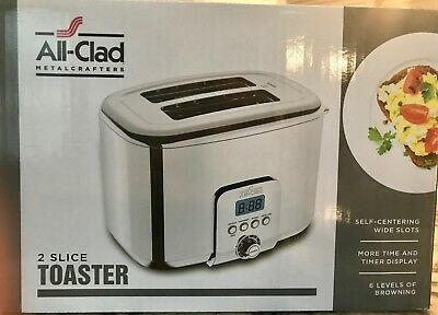 All-Clad 2-slice Stainless-Steel Toaster (NIB)