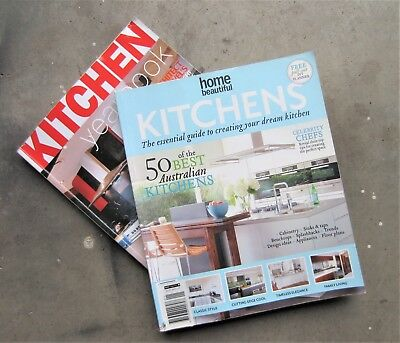 2x KITCHEN MAGAZINES Apartment Flat House Home Room Decorate DIY Renovate Build