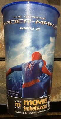 The Amazing Spider-Man 2 Marcus Theaters 44oz Plastic Collectors Plastic Cup New