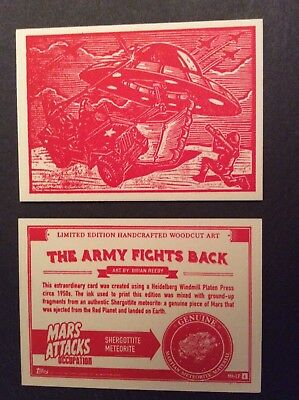 Topps Mars Attacks Occupation Woodcut Art Card MA-LP #6
