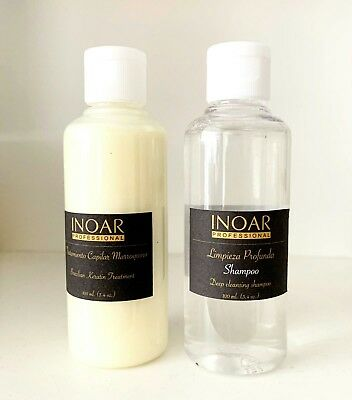 Inoar Moroccan Brazilian Keratin Treatment Blow Dry Hair Straightening 200Ml Kit