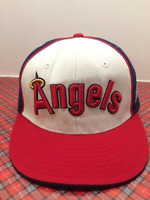 1e3516b90ade5 American Needle Los Angeles California Angels Fitted Cap Throwback Baseball  Hat