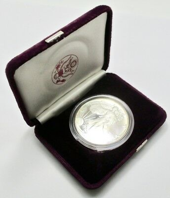 1986-S 1 oz Proof Silver American Eagle with Box