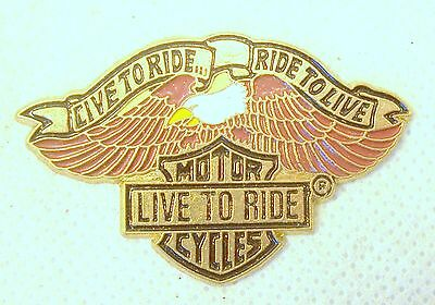 Live to Ride/Ride to Live Harley Davidson Motorcycle Pin (Front Only) SKU 1044