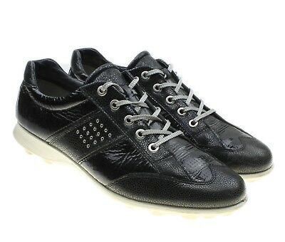 feee1b2890c Ecco Black Silver Patent Leather Golf Shoes Women s Size 41 EU   US 9.5 - 10