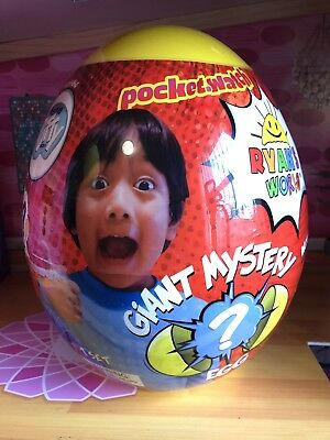 Ryan's World Yellow Giant Mystery Egg Toy Rare Hot Surprise Toys Youtube Slime