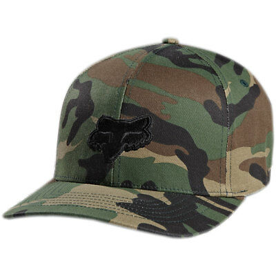 Fox Racing Men's Legacy Flexfit Hat Camo Green   Baseball Cap Sunvisor Headwear