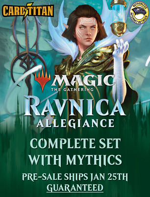 Magic MTG - Ravnica Allegiance - Complete Set WITH Mythics + BONUS - CARDTITAN