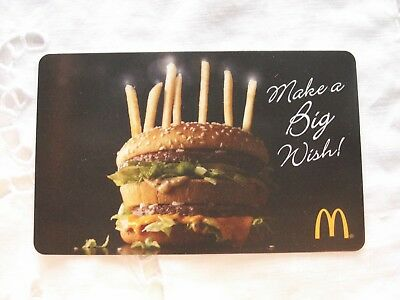 McDonalds ARCH Big Mac Birthday Gift Card Collectible New No Value