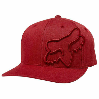 Fox Racing Men's Clouded Flexfit Hat Dark Red Headwear Baseball Cap