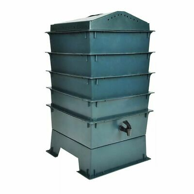 vidaXL 4-Tray Worm Factory 42x42x60cm Outdoor Garden Waste Composting Bin