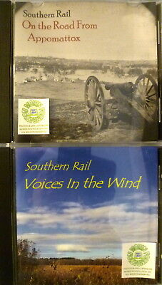 SOUTHERN RAIL VOICES IN THE WIND & ON THE ROAD FROM APPOMATTOX BLUEGRASS CDs