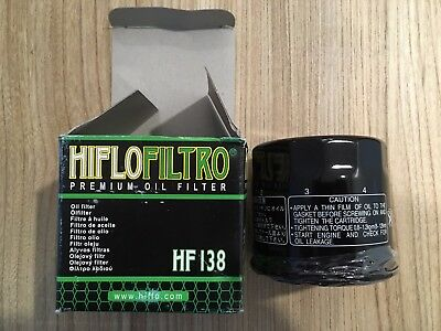 Hi Flo Oil Filters NEW - HF138 Suzuki Motorbike Motorcycle