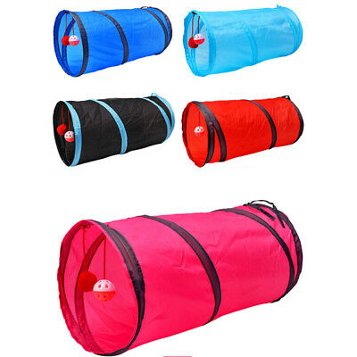 Pet Cat Tunnel Passageway Tubes Collapsible Crinkle Kitten Play Interactive Toy`