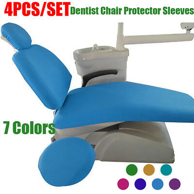 Dental Unit Chair Cover Sleeves Protector Waterproof PU Headrest Dentist Stool