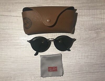 5e1013289be18a Ray Ban RB2447 Black Copper Silver Flash Flat Round Sunglasses NWOT - Italy