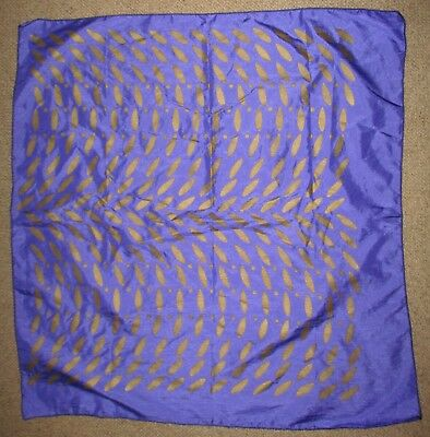 Vintage Large  Silk Purple/gold Scarf  Great Condition